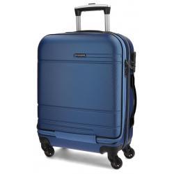 Maleta de cabina de 55x40x20 cm Movom Galaxy Azul con bolsillo frontal