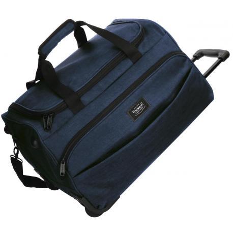 Bolso de viaje 55x34x33 cm en Poliéster Movom Ottawa 2 ruedas Azul
