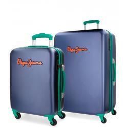 Juego de maletas Cabina/mediana Rigidas Pepe Jeans Bristol Azul
