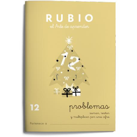 Cuaderno Rubio Problemas nº 12 Sumar, restar y multiplicar por una cifra