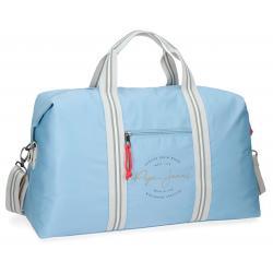 Bolsa de viaje 51x30x20 cm en Poliéster Pepe Jeans Yoga Azul