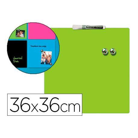 Pizarra Verde Magnetica sin marco 36x36 Rexel