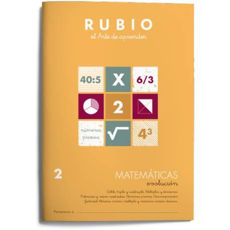 Cuaderno Rubio Matemáticas Evolución nº 2 Doble, Triple y Cuádruple. Múltiplos y Divisores