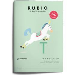 Cuaderno Rubio Vacaciones 3º Primaria Repaso