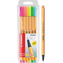 Rotulador Stabilo Point 88 Pack 6 Colores Neon