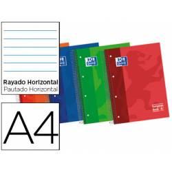 Cuaderno Oxford DIN A4 Tapa Extradura y Rayado horizontal. Colores surtidos