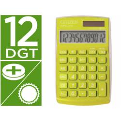 Calculadora Bolsillo Citizen CPC-112GRWB 12 Digitos Verde Serie Wow