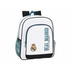 Mochila escolar Real Madrid 38x32x12 cm 1 Equipación 17/18 Adaptable a carro