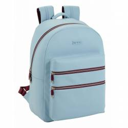 CARTERA ESCOLAR SAFTA MOOS CAPSULA LIGHT BLUE DAY PACK 310X150X440 MM