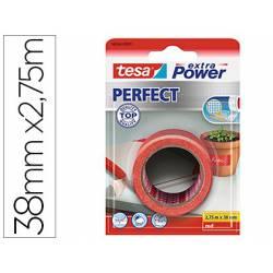Cinta adhesiva Tesa Textil Extra Power perfect 2,75m x 38mm Rojo