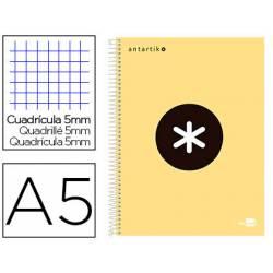 Bloc Antartik A5 Cuadricula 5mm tapa dura 100g/m2 color amarillo piña 5 bandas color