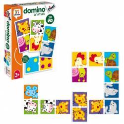 Juego didáctico a partir de 3 años Domino animals Diset