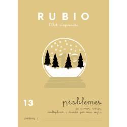 Cuaderno Rubio Problemes nº 13 Sumar, restar, multiplicar y dividir por una cifra Catalán