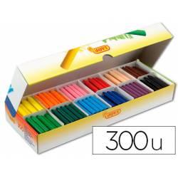 Lapices cera Jovi caja de 300 unidades de 12 colores surtidos