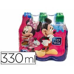 Agua mineral natural Font Vella Kids botella de 330 ml
