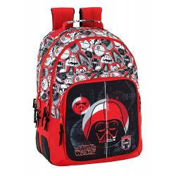 Mochila Escolar Star Wars 42x32x15 cm Poliéster Galactic Mission Adaptable a carro