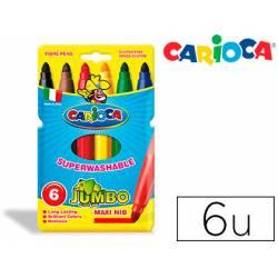 Rotulador Carioca Jumbo grueso lavable caja de 6 rotuladores