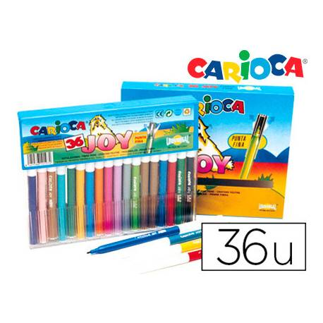 Rotulador Carioca Joy Cristal fino lavable caja 36 rotuladores
