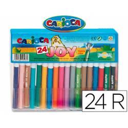 Rotulador Carioca Joy Cristal fino lavable caja de 24 rotuladores