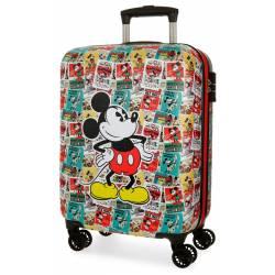 Maleta de cabina 54x36x20 cm Rigida Mickey con Posters