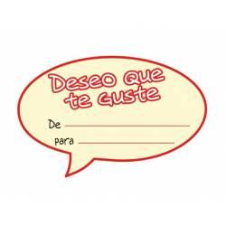 Etiqueta para regalo Arguval Deseo que te guste Rollo de 250 unidades Catalan Modelo 46