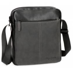 Bandolera Pepe Jeans 27x23x7 cm en Piel sintetica Cranford Negro Porta Tablet