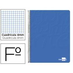 Cuaderno Espiral Liderpapel Write Tamaño Folio Cuadrícula 4 mm Color Azul