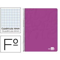 Cuaderno Espiral Liderpapel Write Tamaño Folio Cuadrícula 4 mm Color Rosa