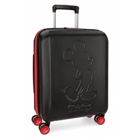 Maleta de cabina 55x40x20 cm Rigida Mickey Colored color Negro