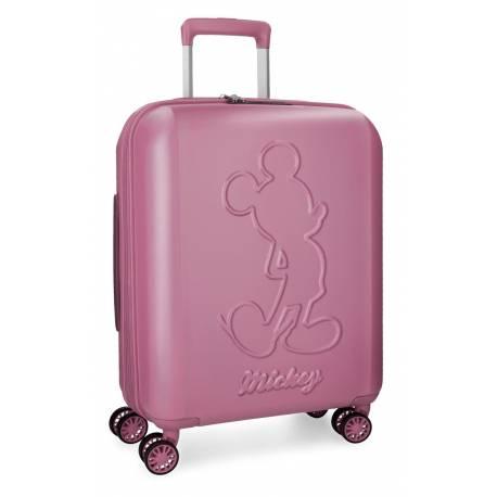 Maleta de cabina 55x40x20 cm Rigida Mickey Premium color Rosa