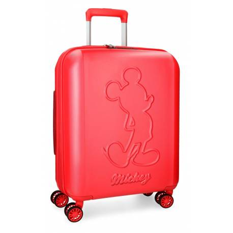 Maleta de cabina 55x40x20 cm Rigida Mickey Premium color Rojo