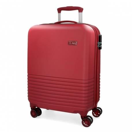 Maleta de cabina 55x36x20 cm Rigida El Potro Ride color Rojo